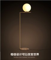 Wholesale 2016 new design north Europe LED individuation Glass globe floor light bedside light floor lights AC85 V light fixture LED light