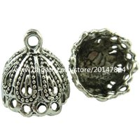 antique silver filigree jewelry - 19040 Vintage Antique Silver Hollow Teardrop Filigree Pendant Jewelry Tassel cap
