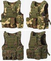 Wholesale Tactical Hunting Vests Military USMC Airsoft Molle vests Blackhawk Police Vests Combat Assault Camoflage Vests