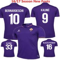 anti clothing - 2016 Florence Home Purple Soccer Jersey ACF Fiorentina Football Clothes M gomez Bernardeschi Blaszczykowski Kalinic vestiti di calcio