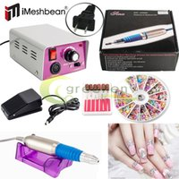 Wholesale New PROFESSIONAL ELECTRIC NAIL FILE DRILL Manicure Tool Pedicure Machine Set kit