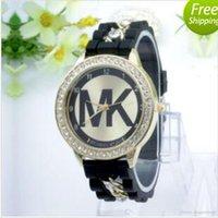 Wholesale good MK Michael Kores M K style wristwatch watches Stainless Steel bracelet top brand luxury replicas Jewelry for men women mens MW22