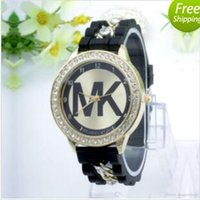 Wholesale good MK Michael Kores style wristwatch watches Stainless Steel bracelet top brand luxury replicas Jewelry for men women mens MW22