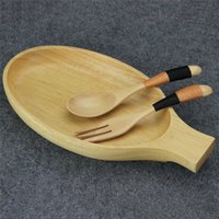 Wholesale Aoosy Natural Rubber Wood Fish shape Dishes Lunch dish fish plate Food Dishes Tableware Kitchen Dinner Bar Tools