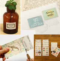 Wholesale 128 bags Cute vintage stamp stickers for paper scrapbook Retro tower flower crochet Decoration