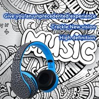 MP3/computer/cell phones android wireless headphones - STN Crackle Stereo Foldable Headphone HD Bluetooth Headphone FM MP3 Player Handsfree Wireless Headset for Android iPhone PC STN12