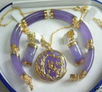 alexandrite gold earrings - gt gt gt K GP Alexandrite pendant Errings Bracelet set AAASQW