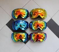 Wholesale High quality ski goggles double UV400 anti fog big ski mask glasses skiing men women snow snowboard goggles cycling motorcycle