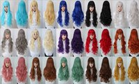 auburn temperature - New listing high temperature wire wig anime cos oblique bangs long hair wig wig Yiwu