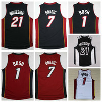 quality white shirts - Hot Sale Hassan Whiteside Jersey Throwback Chris Bosh Shirt Goran Dragic Uniforms Fashion Team Color Black Red White Best Quality