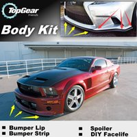 Wholesale Bumper Lip Lips For Ford Mustang GT CS Front Skirt Deflector Spoiler For Car Tuning The Stig Recommend Body Kit Strip
