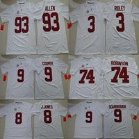 Wholesale Alabama Crimson Tide College Jersey O J Howard Julio Jones Amari Cooper Bo Scarbrough Ridley Cam Robinson Jonathan Allen white Jersey