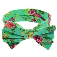 Wholesale 1 Baby Kids Girl Children Toddler Infant Print Flower Floral Bow Hairband Turban Knot Rabbit Headband Hair Band Accessories