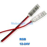 Wholesale 20pcs DC12V V A way channel slim mini keys rgb led controller to control led rgb strips smd