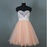 amazing mini dress - Amazing pink tulle handmade short gown prom dresses custom made pageant party dress vestidos