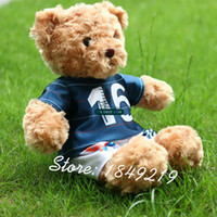 baby memorial - Dorimytrader Hot European Cup Soccer Memorial Bear Teddy Bear Plush Toy Soft Bears Doll Great Baby Gift DY61118