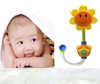 Wholesale Baby Bath Toys Children Sunflower Shower Faucet Bath Learning Toy Gift