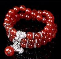 asian purses - Natural red agate bracelet jewelry hot retro purse brave men and ladies bracelets bracelet