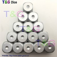 Wholesale piece T amp G High Quality mm Metal Dice Aluminum Metalic Game Dice