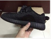 Wholesale 2016 New Mens Shoes Kanye West yeezy boost Athletic Boots Ankle Boots Low cut Shoes With Original Box Sports Boot EMS