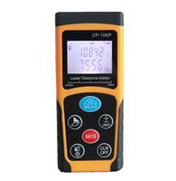 Wholesale 2016 Best Selling M Mini Handheld Digital Laser Distance Meter Rangefinder Measure Tape Diastimeter Yellow with Tripod for Home New Whole