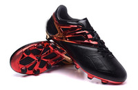 Wholesale 2016 New arrived Soccer cleats Mens Outdoor football shoes Lio Messi Soccer Cleats Black Cheap soccer Boots