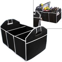 Wholesale 2016 New Car Boot Organizer Stuff Food Storage Bags trunk organiser Automobile Stowing Tidying Interior Accessories Folding Collapsible