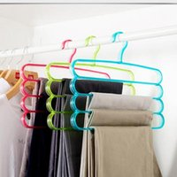 Wholesale Tie rack Scarves hanging Pants rack4061 bright Nordic style four layer pants rack scarves hanging wet multi hanging pants rack