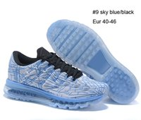 Wholesale New MAX Men s Training Shoes air sky blue black sneakers size US7 US12