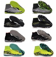 Wholesale Hypervenom Phantom JR II Neymar FG Mens Kids Boys Cleats HypervenomX Proximo IC TF NJR X Turf Football Indoor Soccer Shoes Futsal Boots