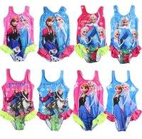Wholesale Sales Pretty girl one pieces swimwear Frozen Adorable kid swimwear beach wear Swimtrunks bathing suit mix order
