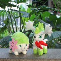 baby land - Japanese Anime Shaymin Plush Toy Soft Stuffed Animals Plush Doll Baby Toys Shaymin Sky Land Form Cute Gifts For Children