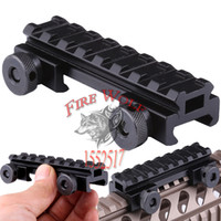 alloy riser - Hunting Tactical See Thru Flat Top quot Riser Base w Picatinny Weaver Rail mm Scope Mount Aluminum Alloy Paintball Wargame