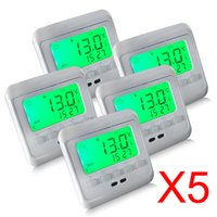 Wholesale Programmable Floor Heating Thermostats with Green LCD Display Digitale Thermostaat Room Thermostats Good Quality