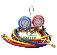 ac test set - R12 R22 R502 HVAC AC Refrigeration Testing air condition system Charging Kit A C Manifold Gauge Set