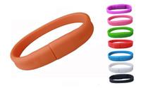 Wholesale 5 Piece No Logo PVC Bracelet USB Flash Drives Brand New Plastic Bracelet U Disk USB2
