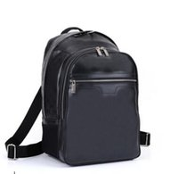 Wholesale highest quality genuine leather MICHAEL backpack MICHAEL N58024 man s damier graphite canvas backpacks Bag CM