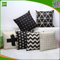 Wholesale Digital Script Printed Cushion Cover High Quality Faux Linen Polyester Customized Home Decorative Pillow Case Cushion