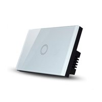 Wholesale White Crystal Tempered Glass Panel Touch Screen Wall Switch US AU Standard Gang Touch On Off Light Switch