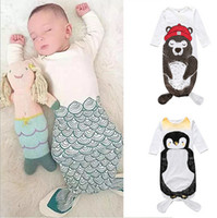 baby pajama patterns - Baby Sleeping Bag Cotton pieces Newborn Kid Baby Boy Girl Romper Printed Bodysuit Sleeping Bag Pajama Sleepsack Outfit Kids Wear