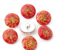 Wholesale DIY Noosa Chunks mm round shape resign samll flower alloy pattern oil snap button noosa button giner button diy jelwery accessories