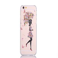 beauty butterflies - Beauty Ultra Thin Transparent Phone shell Butterfly Girl PC Hard Cover Case For Iphone Inch