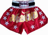 Wholesale mens muay thai shorts boxing pants boxeo shorts free combat pants sanda service fight boxing wear Muay thai pants