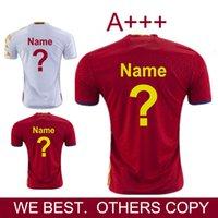 2016 2017 Temporada España FABREGAS camiseta de fútbol SILVA Iniesta Ramos Piqué jerseys mejor calidad de Tailandia camisas del fútbol de los jerseys Eurocup España