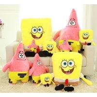 baby sponge bob - 25cm giant sponge bob plush toy Stuffed Animals anime soft toy doll sponge bob plush pillow baby toy for children birthday gift