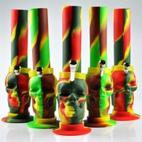 Wholesale illadelph silicone bong JIJU Free ship silicone water pipe silicone hookah bongs cool shape ghost camouflage bongs SG