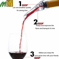 Wholesale New Professional Dining Bar Red Wine Aerating Pourer Spout Decanter Wine Aerator Quick Aerating Pouring Tool with Holder