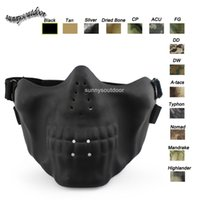 Wholesale Outdoor Face Protection Gear Airsoft Shooting Sports Equipment Skeleton Mask Lower Half Face Airsoft Tactical Skull Mask