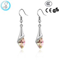 animal research - 2016 new listing of hot crystal material women s long vertical earrings tassel type crystal research earrings earrings jewelry