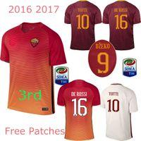 Wholesale Top quality soccer shirt camisa El Shaarawy TOTTI DE ROSSI camisetas de futbol maillot de foot maglie